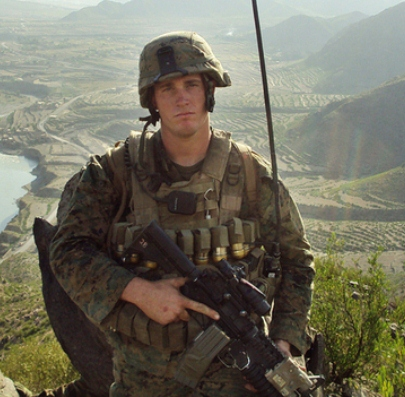 Marine Dakota Meyer poses during his deployment in Kunar province, Afghanistan. President Obama is awarding him the Medal of Honor on Thursday, making him the first living Marine to receive the honor since the Vietnam War.