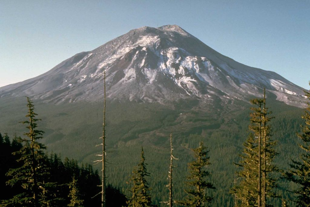 2 Mount St. Helens, as it looked the day before its massive eruption, on May 17, 1980.