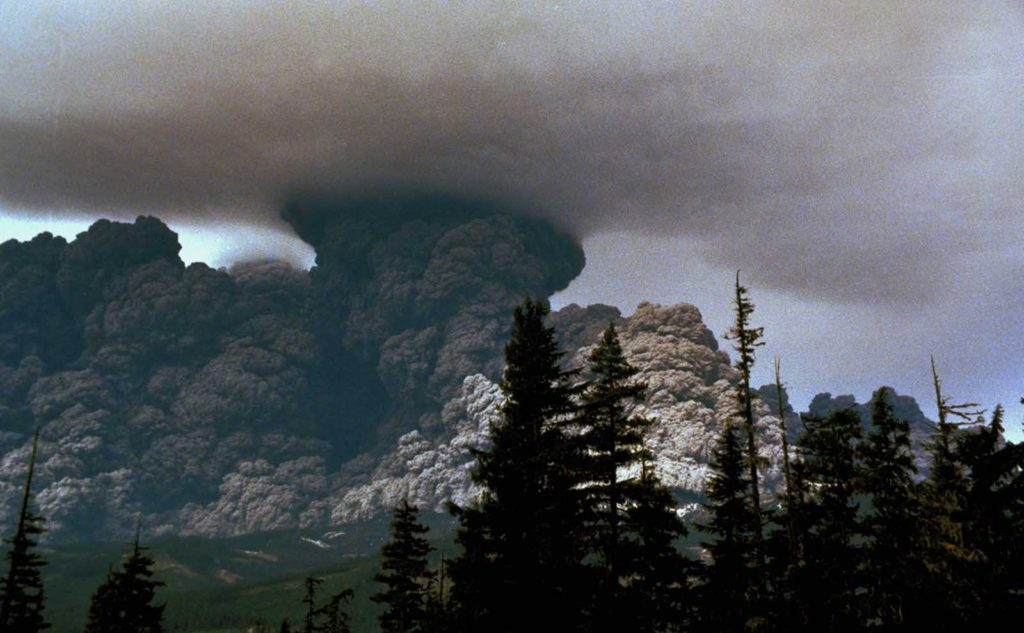 3 Mount St. Helens erupts on May 18, 1980.